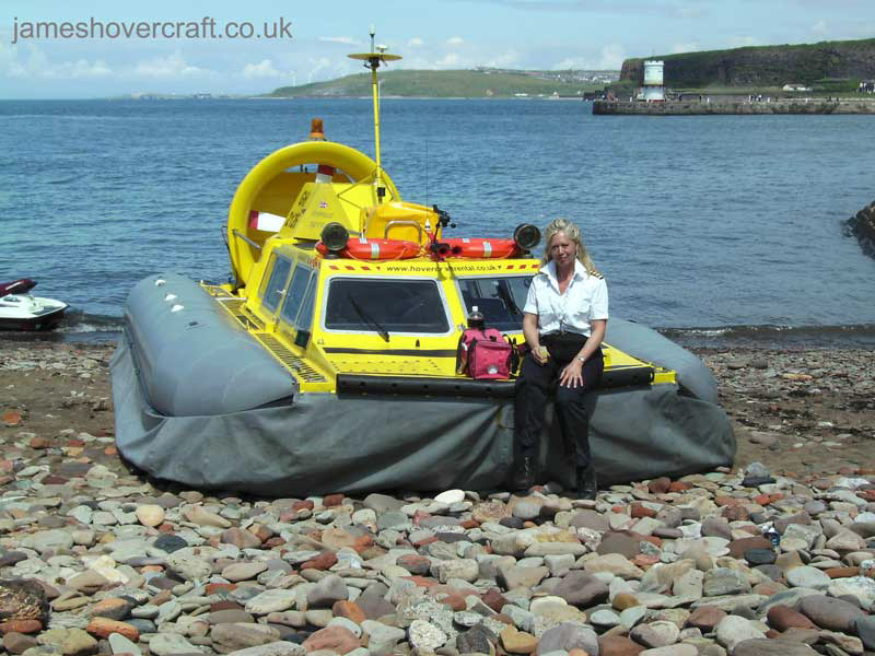Tiger 12 hovercraft in operation with Hovercraft Rental - Craft and her captain ().